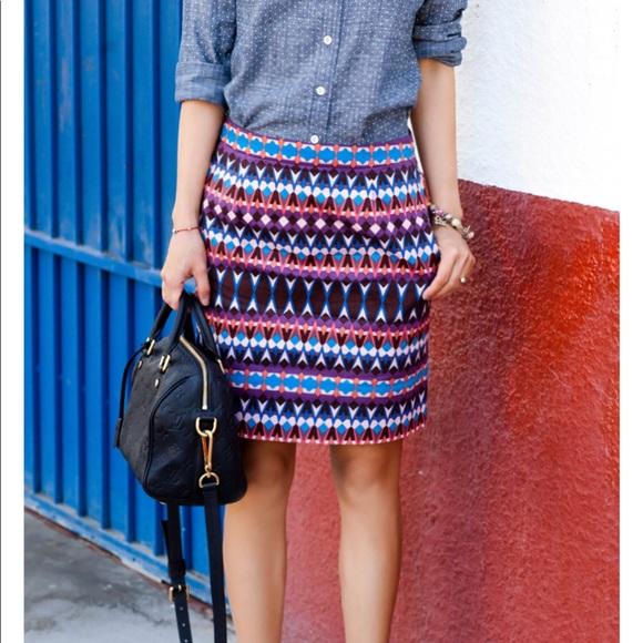 d4324c280d5e5a J. Crew Dresses & Skirts - J. Crew mini skirt gemstone print